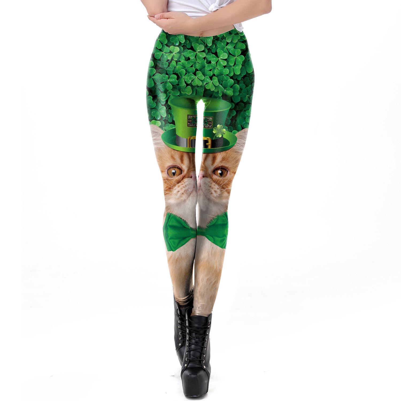 De in het groot Beenkappen van de Geschiktheid van de Vrouwen van de Legging van de Yoga van de Douane van Legging Activewear Beenkappen Afgedrukte