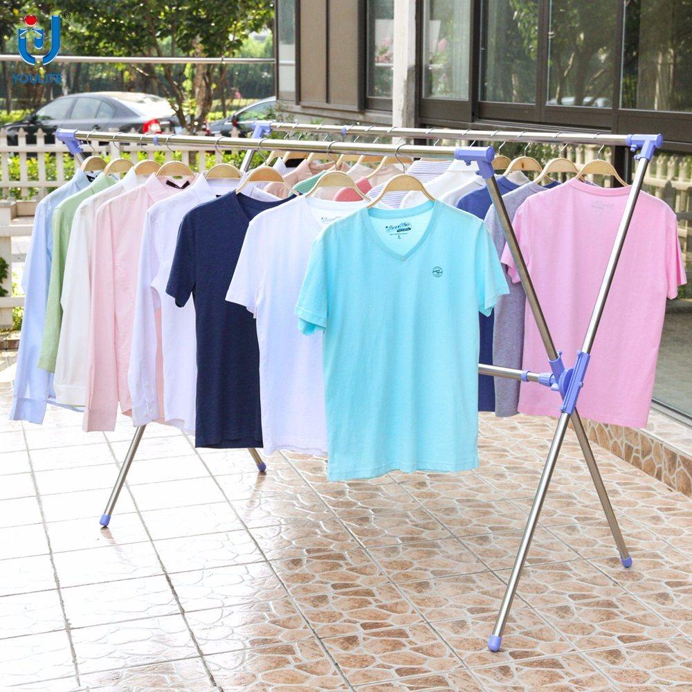 Edelstahl ausdehnbarer X-Typ Kleidung-Aufhängungs-Metallwäschetrockner-Klage-Aufhängung