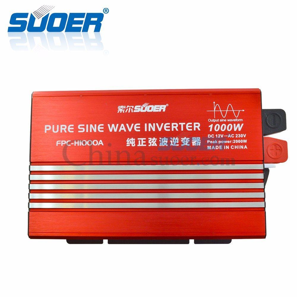 Suoer 1000W 12V 220Vの純粋な正弦波力インバーター(FPC-H1000A)
