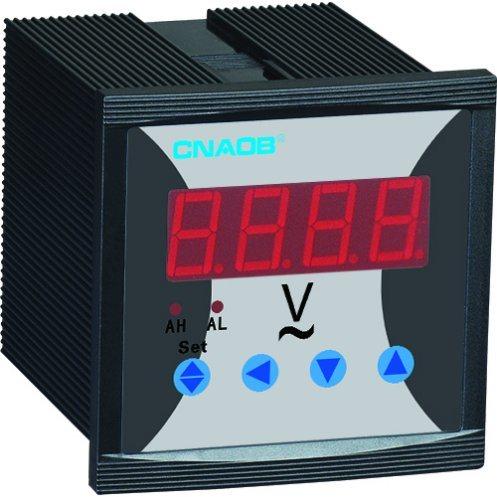 Heißer Verkaufs-einphasig-Digital-Voltmeter mit Warnungs-Größe 72*72 AC500V