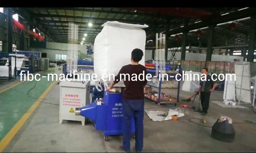 FIBC Bigbag Nettoyage automatique du bras de Volet Machine de nettoyage interne big-bag