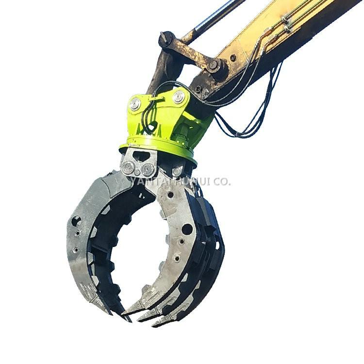 Yanmarの掘削機によって取付けられる回転は石造りの木製の鋼鉄のために取り組む