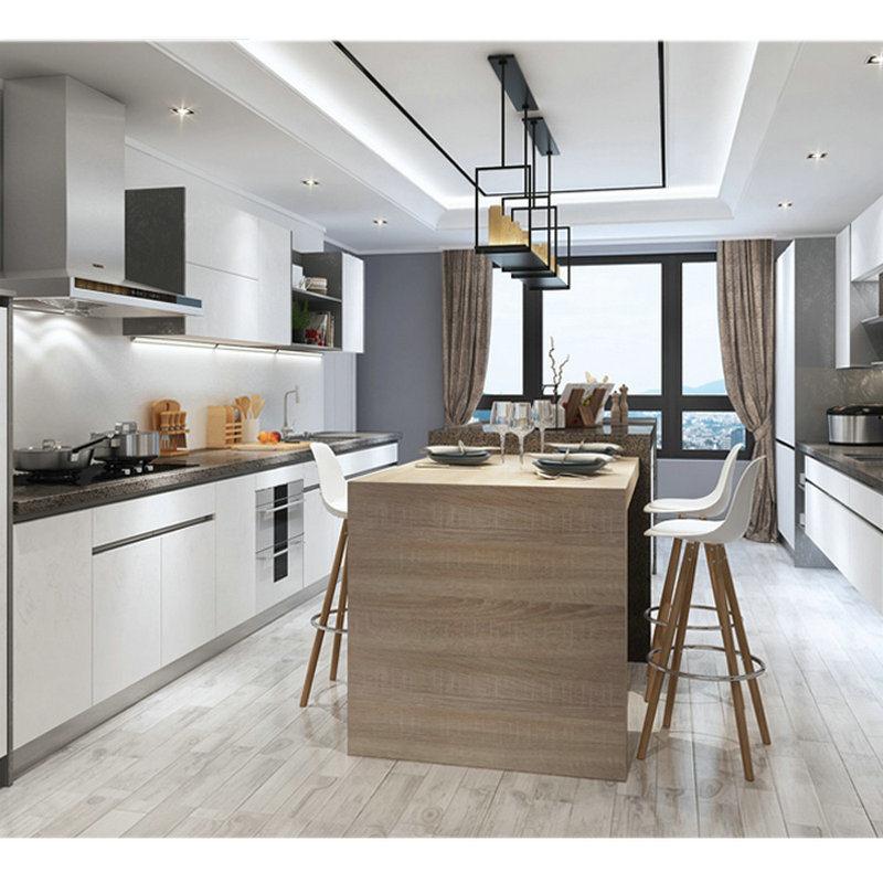 Amerika-Art-festes Holz-Küche-Schrank, Küche-Schranktür