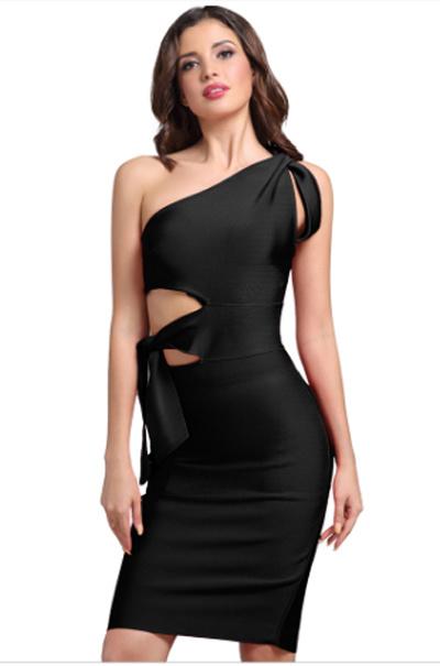d816230282e Femme robe de vêtements pansement sans collet partie robe de soirée robe  fashion robe serré un
