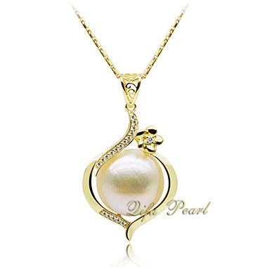 金はめっきした925銀製のMabeの真珠の吊り下げ式の宝石類(HP100601)を