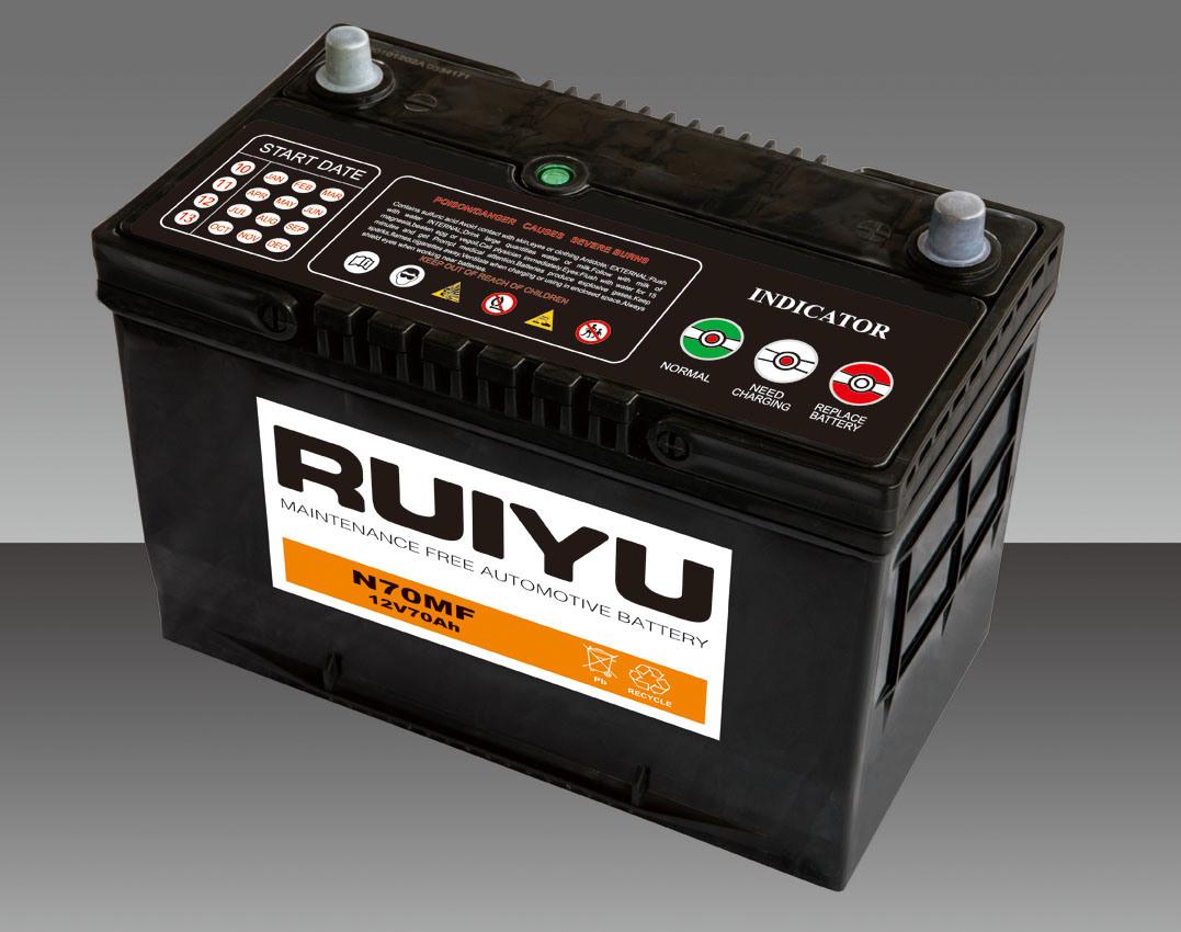 12V70Ah sans entretien scellées au plomb-acide de batterie automobile 65D31L