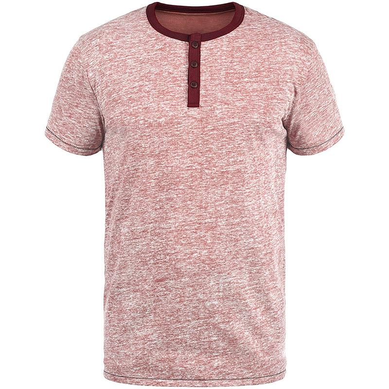 カジュアルでスリムフィットのソリッドカラー高品質 T シャツ