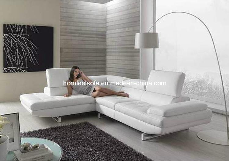 Sofa classique en cuir moderne sectionnel de coin de mode for Divan de coin