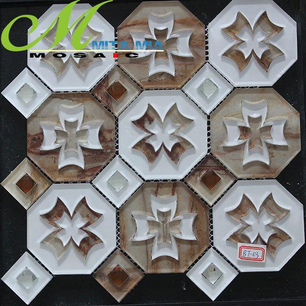Neue Produkt-Kaffee-unregelmäßige Form-Glasmosaik-Fliese der Tendenz-2014