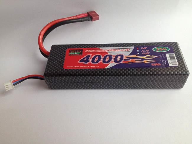 RC Car Lipo Bateria 7,4V 2s 4000mAh 35c