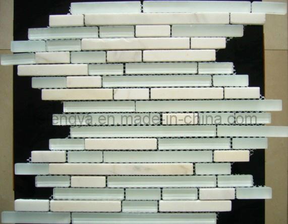 石の混合クリスタルモザイクタイル / 仏山大理石モザイクタイル (198FS02)