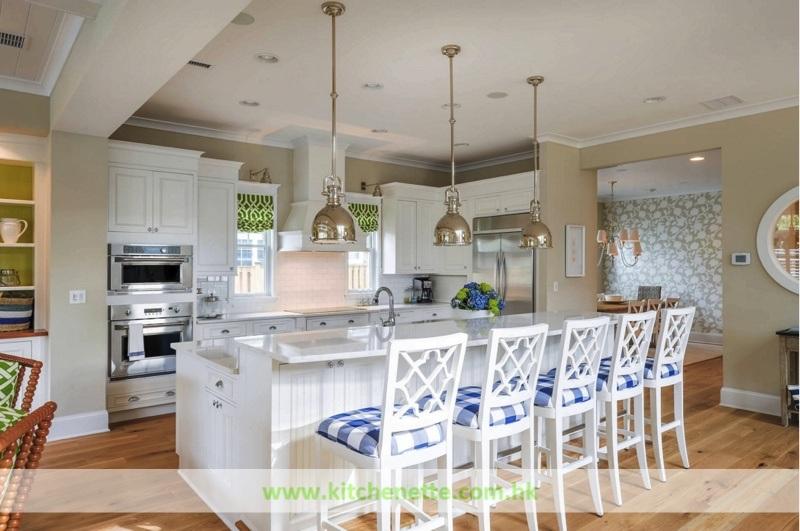 Keuken van het concept van de stijl van het strand de open met de