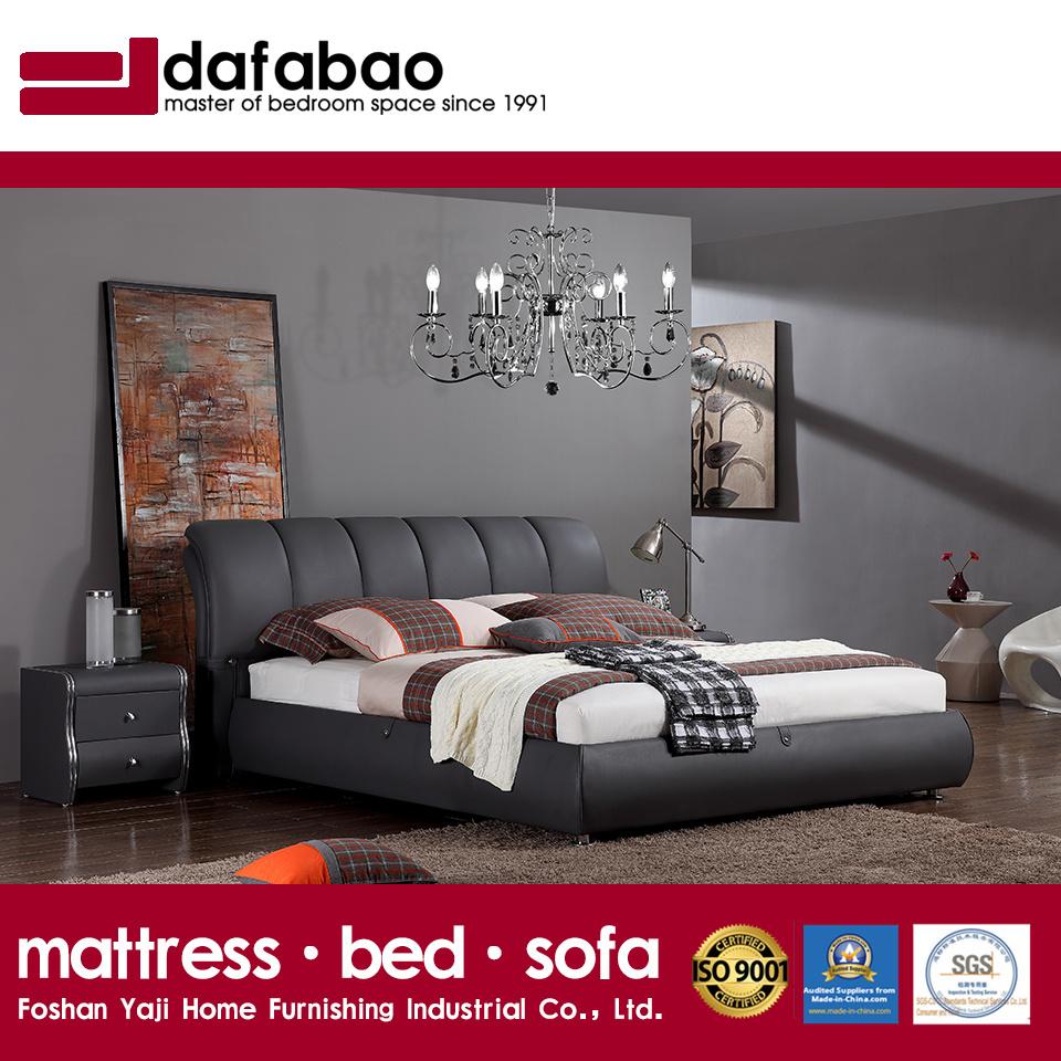 Foto de Sofá cama de cuero negro Home Hotel Juego de Muebles de ...