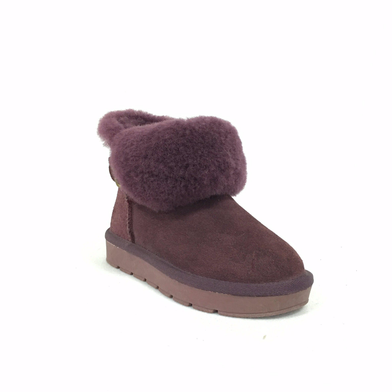 La moda cálida en invierno la nieve botas infantiles