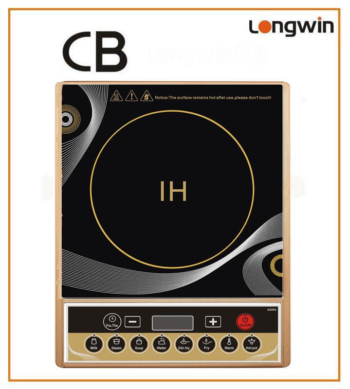 Un design élégant et 24 heures le modèle de contrôle de préréglage cuisinière induction A2003