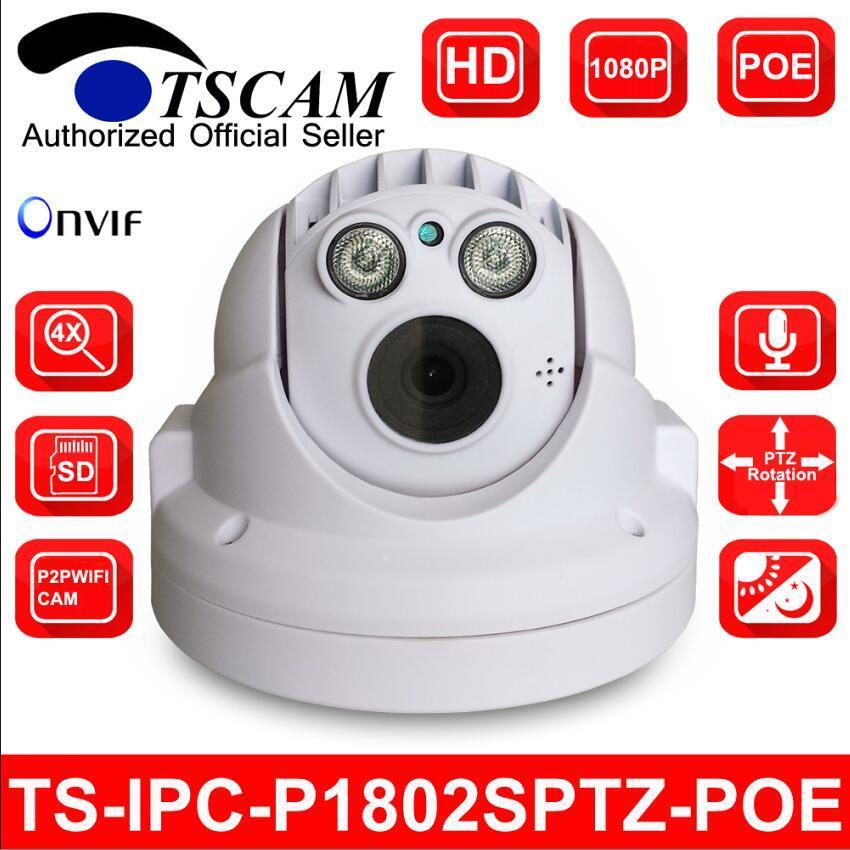 Con Full HD 1080P de 4X Mini cámara IP Domo Poe P2P