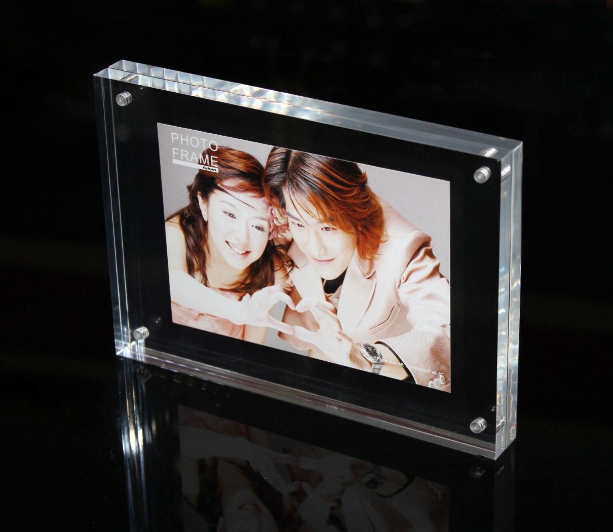 Freier Foto-Rahmen-magnetischer Bilderrahmen des Acryl-A4 foto auf ...