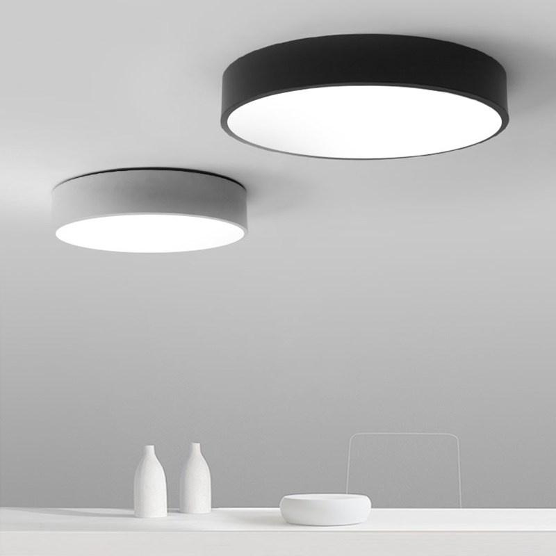 Aluminio Foto Arañas Lámpara De Led Plano Luces Techo Redondo CBxoerd