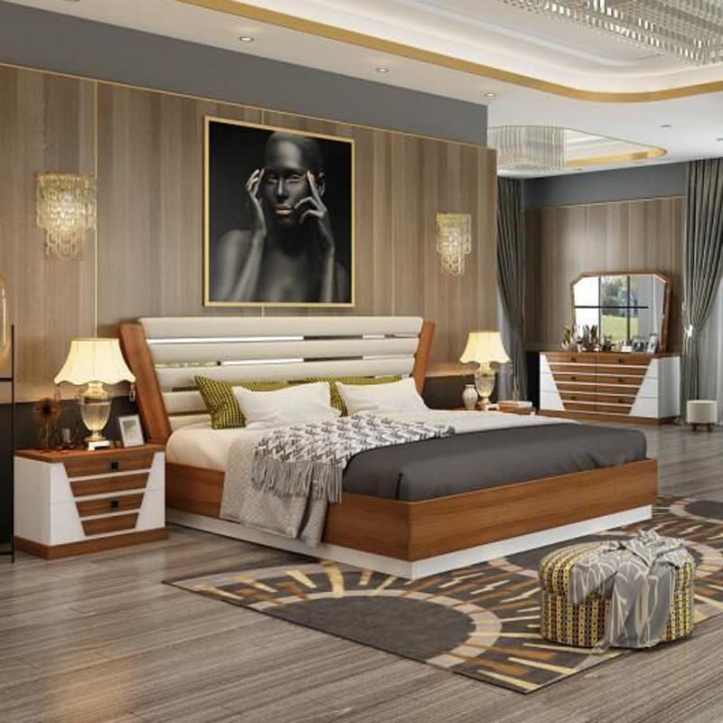 Chambre à coucher Mobilier de style classique et moderne avec lit ...