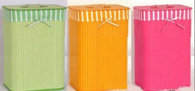 대나무 길쌈 제품, 유행 장방형 뚜껑과 일렬로 세우기를 가진 대나무 세탁물 바구니 또는 버들고리