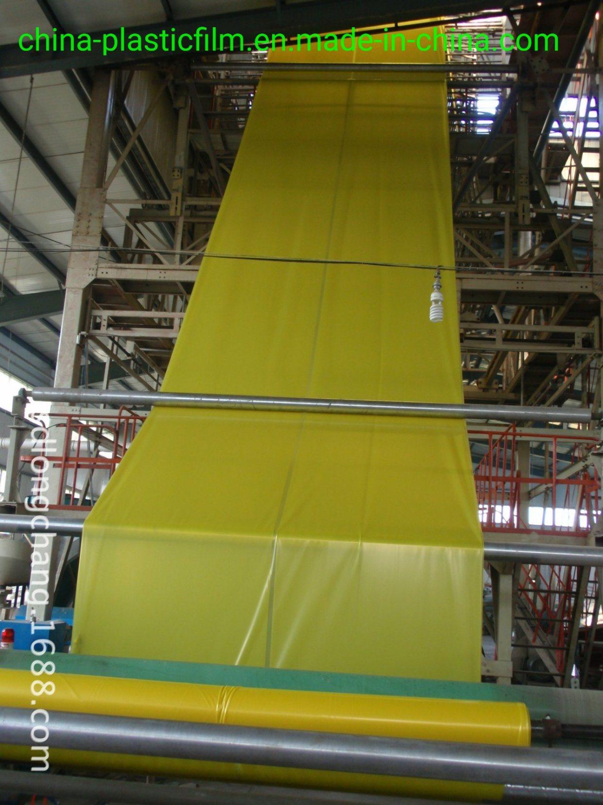 Transparente/Amarelo 200mic anti-UV película com efeito de estufa