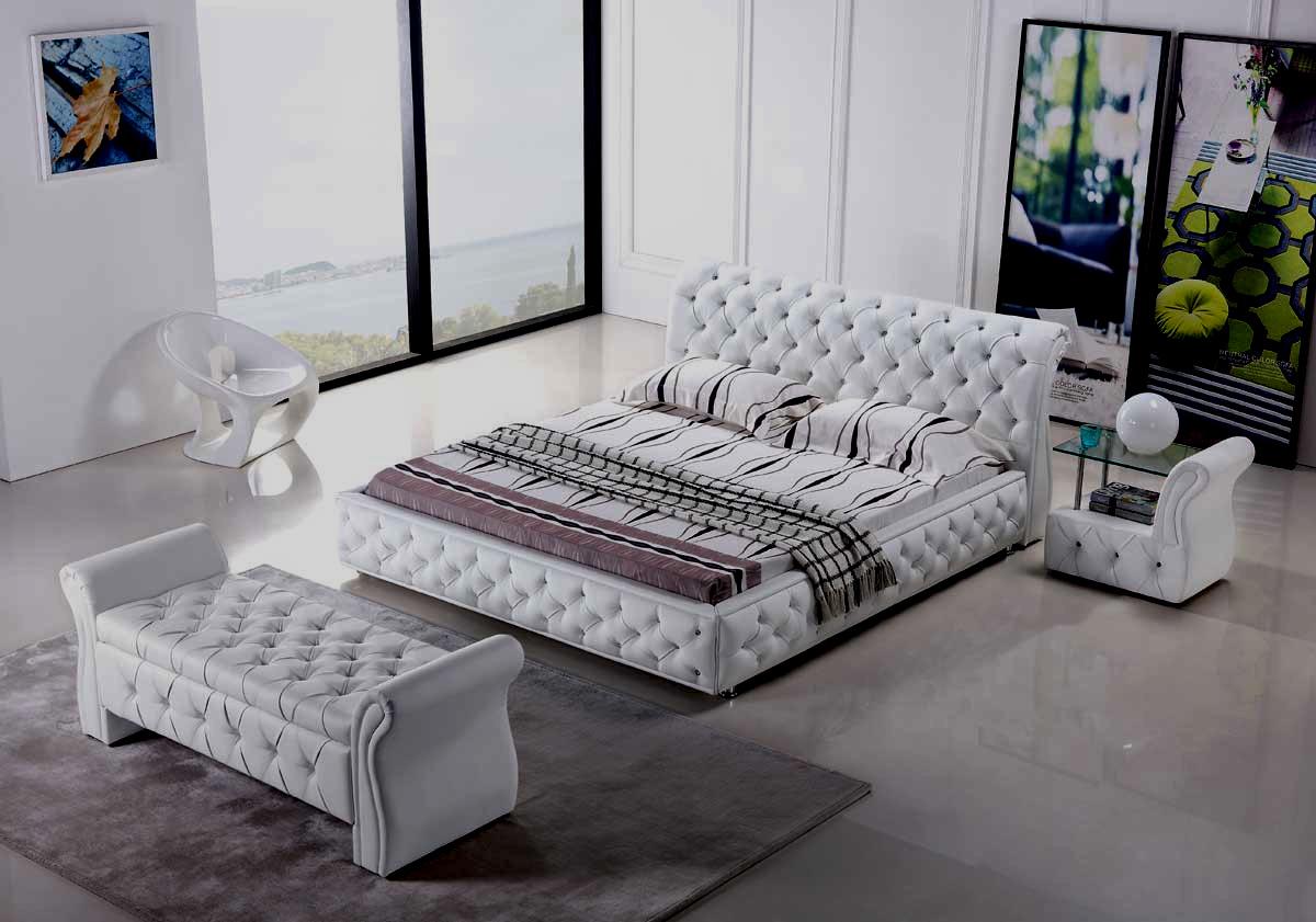 Diseño americana dormitorio cama King-Size Modular de cuero – Diseño ...