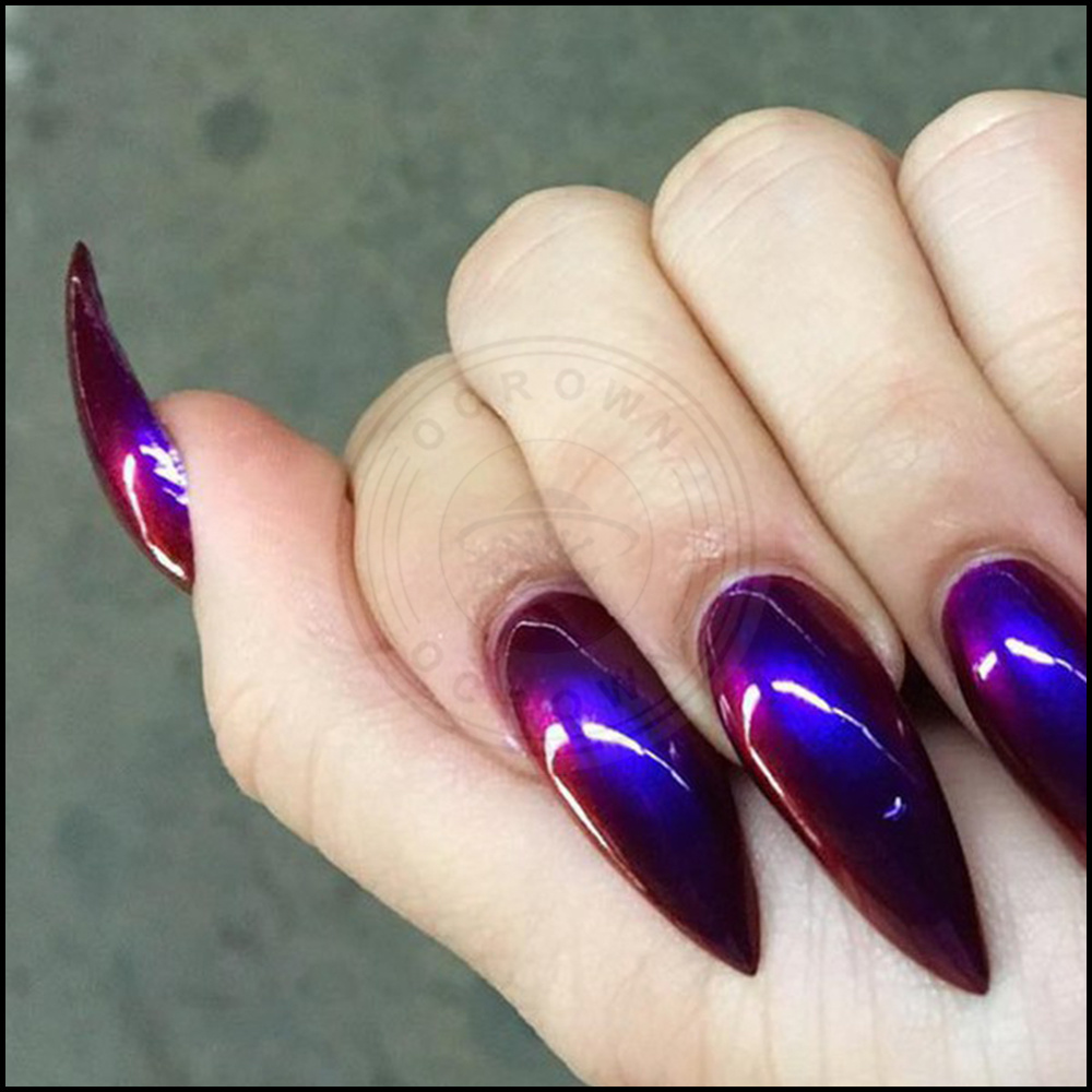 Foto de Unicorn Neon Camaleón de sirena de esmalte de uñas espejo ...