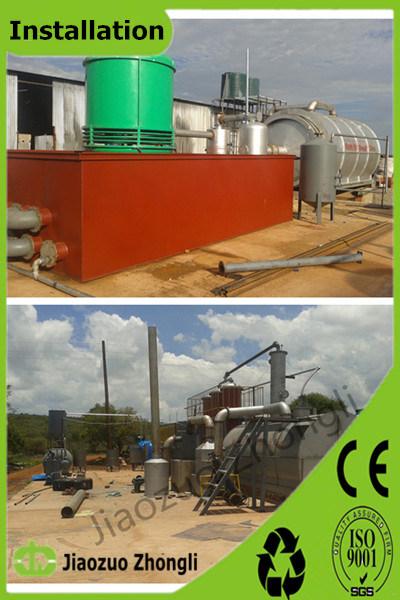 폐기물 타이어 남아프리카에 있는 플라스틱 열분해 기계와 정유 공장 기계
