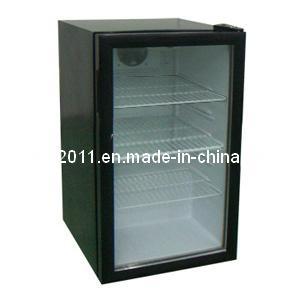 一つの扉ガラスポータブル冷蔵ディスプレイクーラーコンプレッサー冷蔵庫Scを- 100