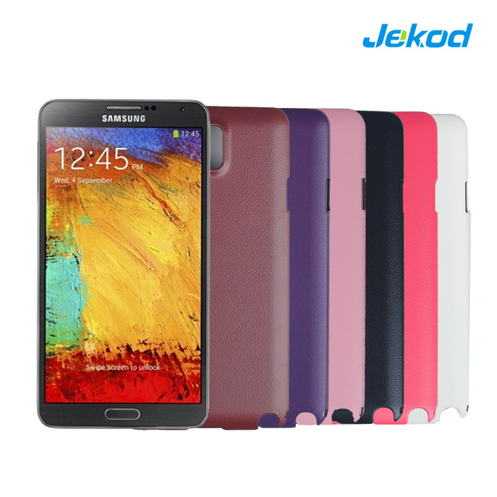 Samsung Galaxy Note 3 用バックレザーフォンケース