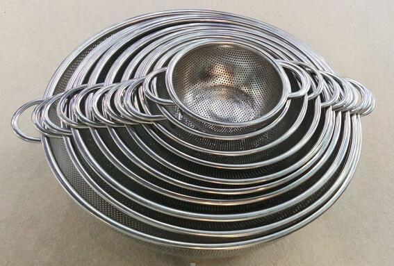 S/S agujero perforado-14.5/16 Cesta.5/19.5/22.5/25.5/28.5/31.5/34.5/36.5/38.5/41.5cm de diámetro