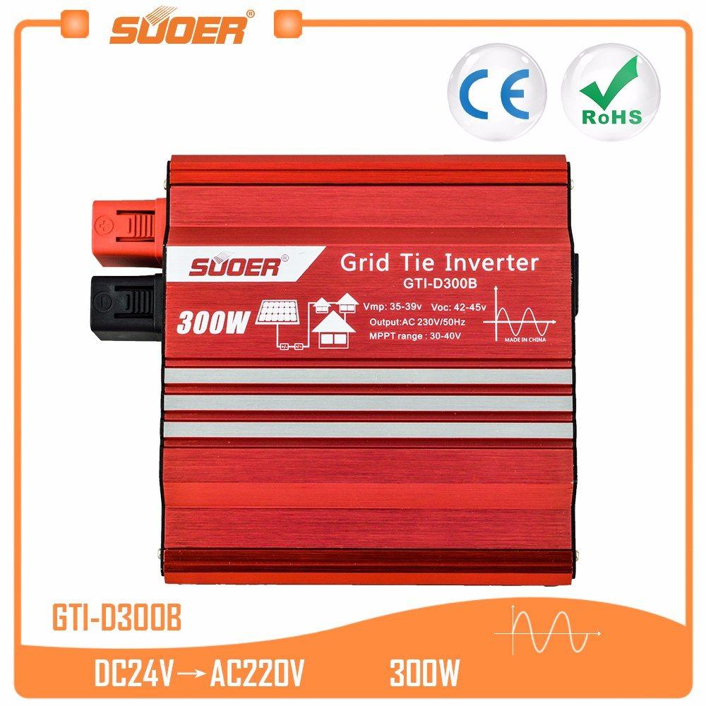 격자 동점 변환장치 (GTI-D300B)에 Suoer 태양 전지판 시스템 300W 24V
