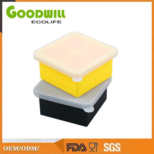 Красочные Custom 4 гнездо силиконового герметика Ice Cube в лоток для бумаги с крышкой, Мороженица