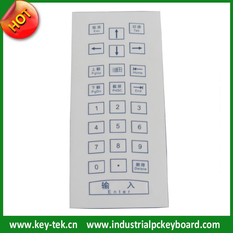 IP65 Dynamic Scratch Proof Industrial Membrane Keyboard