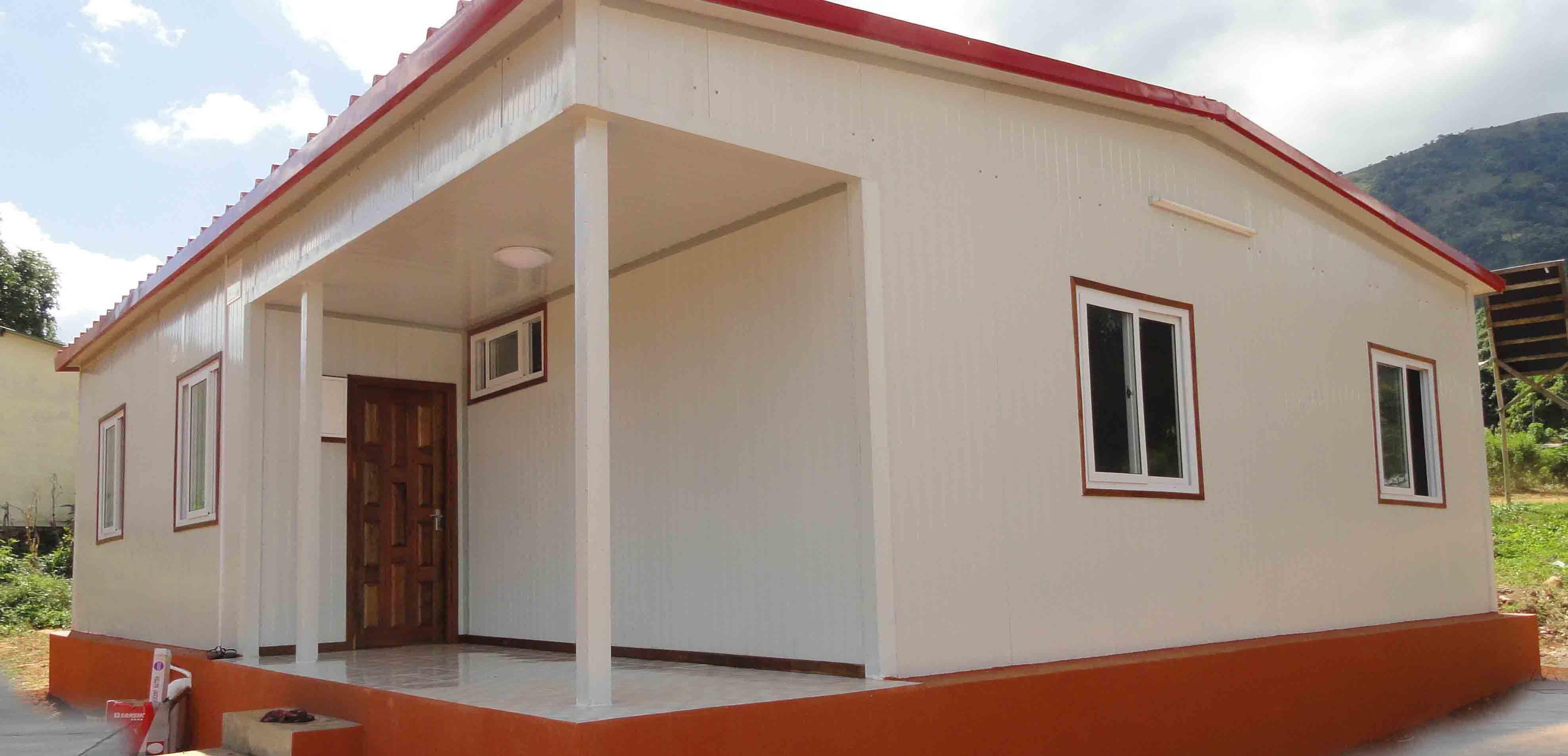 Foto de Peso ligero de cemento panel sándwich EPS casa prefabricada ...