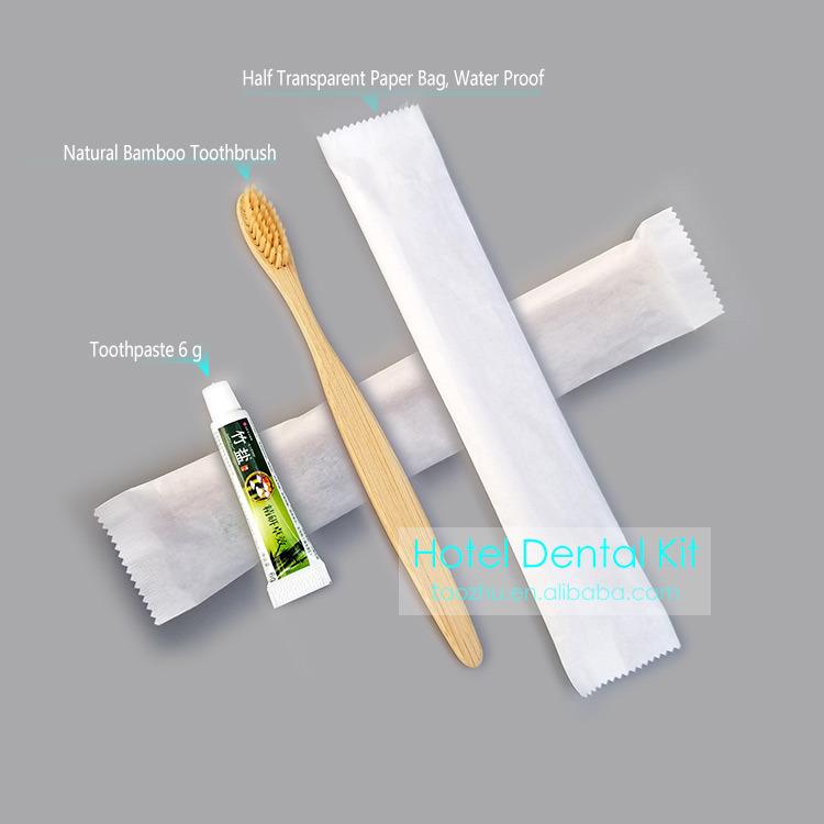 Brosse à dents de bambou de haute qualité de l'hôtel, hôtel Kit Kit de soins dentaires, l'Hôtel des équipements, de bambou naturel, de soie sans BPA