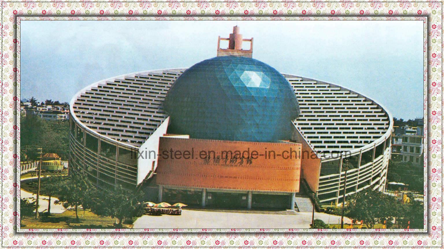 Morden runder Platz-Binder-Dach-Rahmen-Stahlbibliotheks-Gebäude foto ...