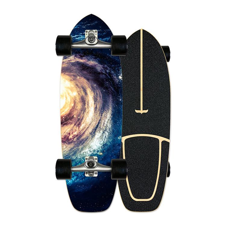 Elektrisch skateboard 4 Wheel Elektrisch Houten skateboard met afstandsbediening