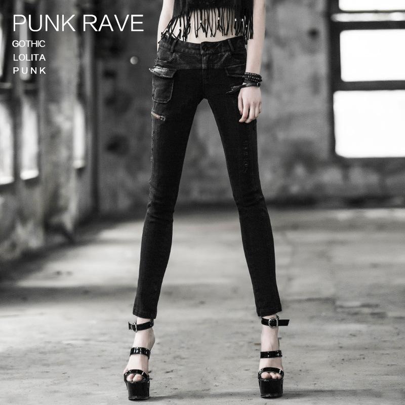 Chine Gothic Style Fashion Ladies Women Denim Jean Pant (K