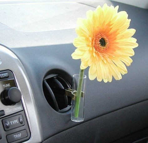 Fleur de vase voiture de tournesol pour le fran ais for Interieur en francais