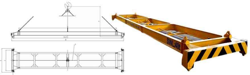 40ft 25-35toneladas sin alimentación contenedor automático cabestrillo simple
