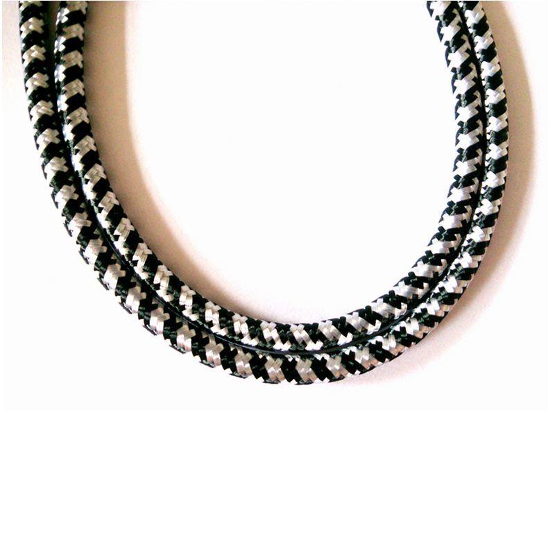 Foto de Blanco y Negro Cable trenzado de patrones de tejido en es ...