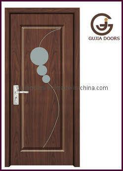 Puertas de madera interiores del mdf gj 125b puertas for Modelo de puertas para habitaciones modernas