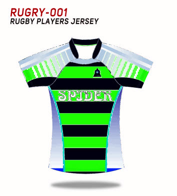 Spidersports Zoll sublimiertes Rugby Jersey