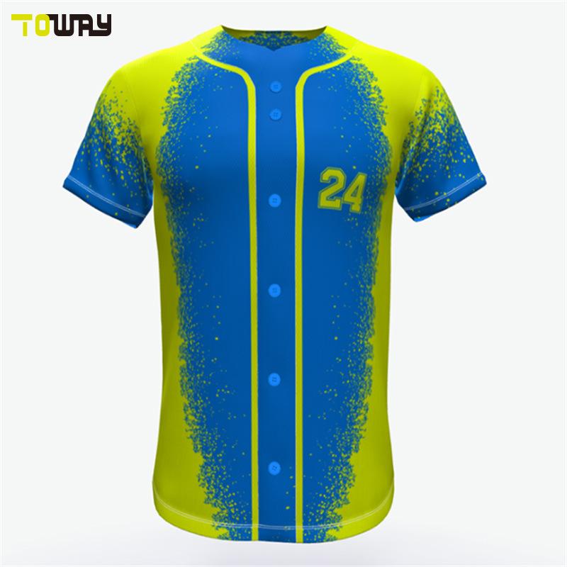 Abbigliamento Sportivo Dri Fit Blank Da Baseball Maglie Wholesale Youth