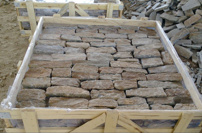 d coration de mur ext rieur de granit de placage de pierre l che smc fs009 photo sur fr made. Black Bedroom Furniture Sets. Home Design Ideas