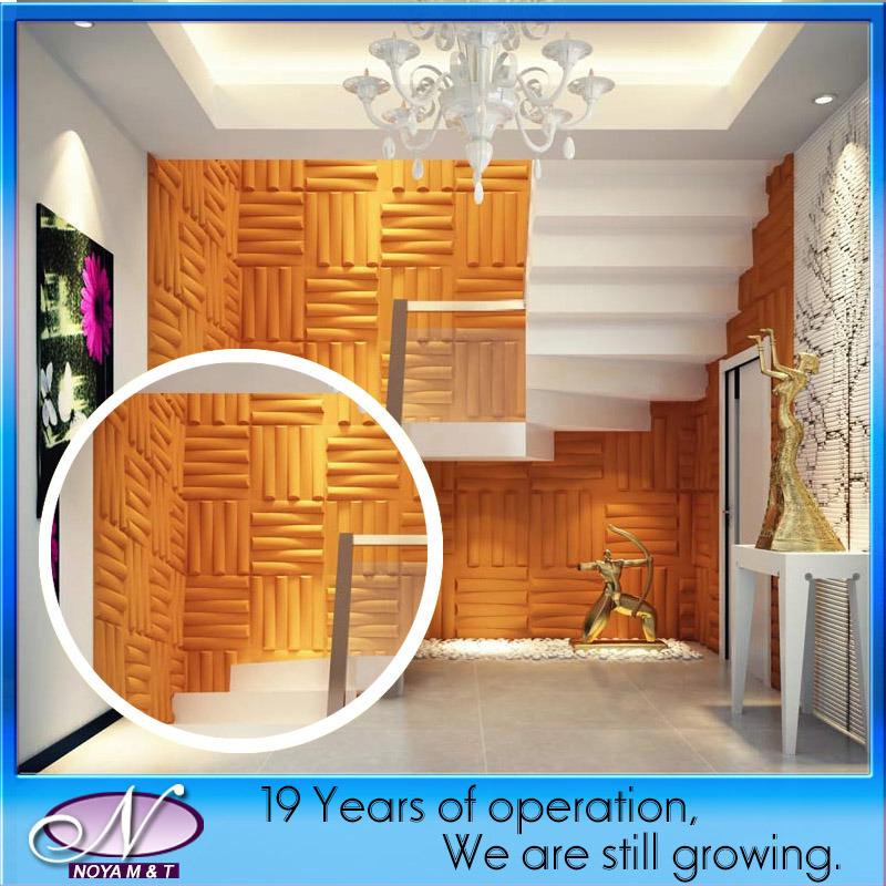 3d 39 isolation acoustique en pvc pour l 39 int rieur du panneau for Panneau acoustique mural decoratif