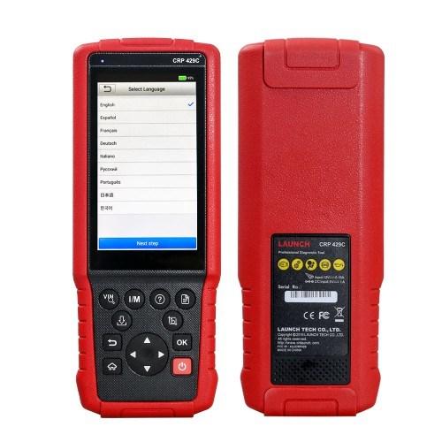 Inicie o X431 PCR429c auto diagnóstico para motor/ABS/SRS/em+11 Service Crp 429c Scanner de Código de OBD2 Melhor do que a PCR129