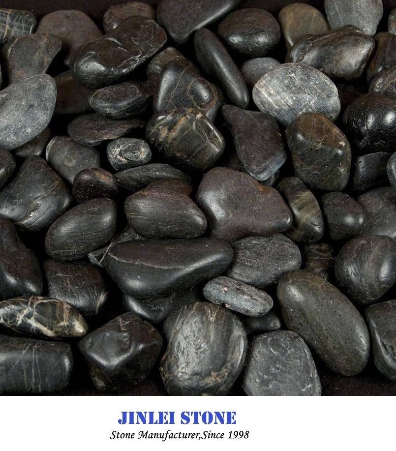 Galets blancs blanc poli noir naturel de galets de pierre de ...