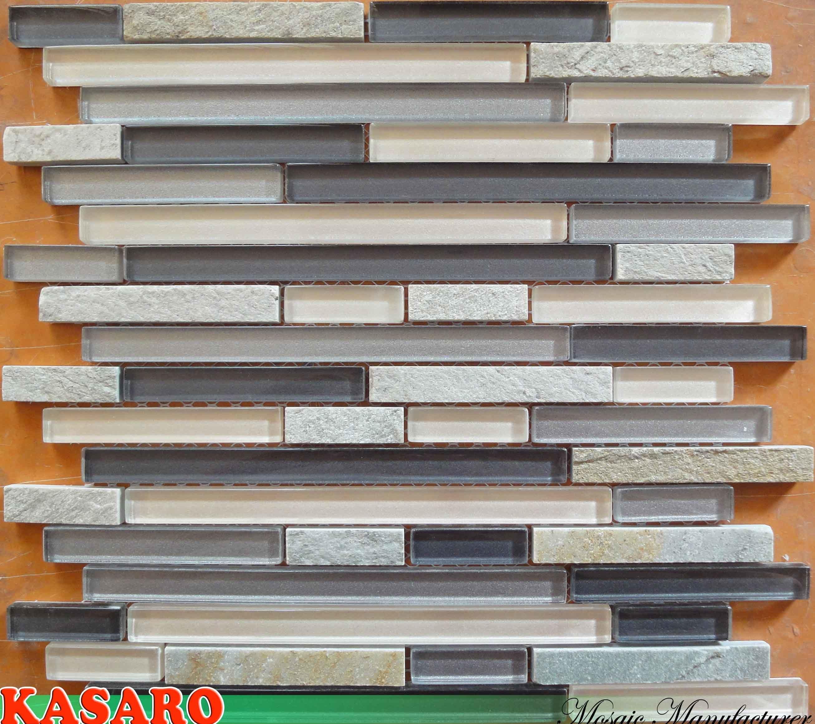 Mattonelle di mosaico di pietra di vetro del nastro mattonelle della parete della cucina - Mosaico per cucina ...